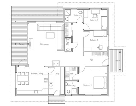 modern 3 bedroom house floor plans modern house plan with classical lines logical room