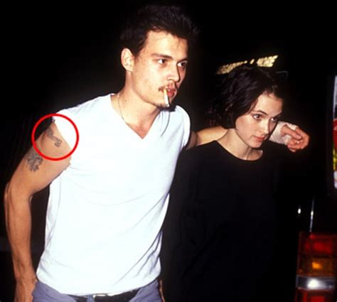 johnny depp girlfriend tattoo johnny depp and winona ryder crazy things stars do for