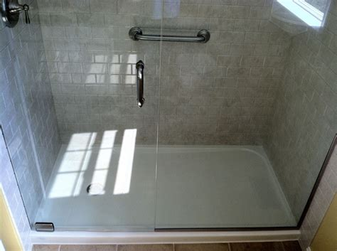shower base to replace bathtub acrylic shower stalls vs fiberglass