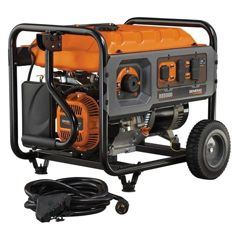 shop generac rapid start 5 500 running watts portable