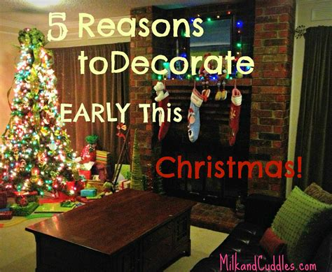why i m in favor of early christmas decorating