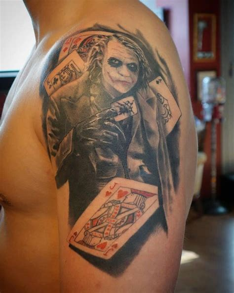 card tattoos joker tattoos askideas
