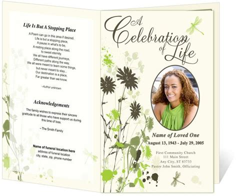 memorial handout template best 25 memorial service program ideas on