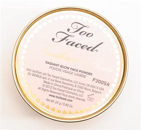 sweetheart radiant glow powder faced sweetheart radiant glow powder review