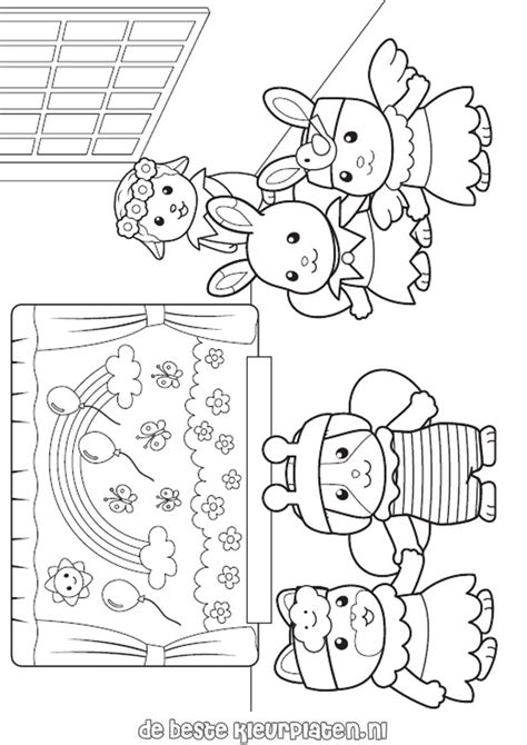 free coloring pages of sylvanians