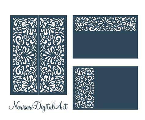 file card template svg dxf laser cutting files set wedding invitation card
