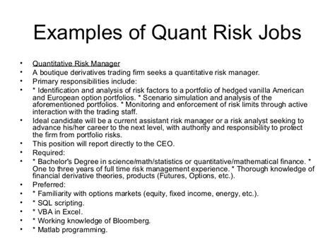 Resume Skills Quantitative quantitative analyst skills