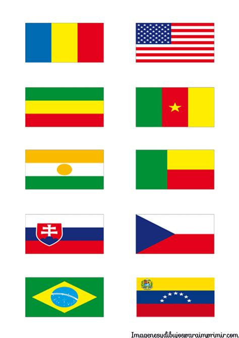 Dibujos De Banderas Del Mundo Para Imprimir | banderas de los paises en el mundo para imprimir