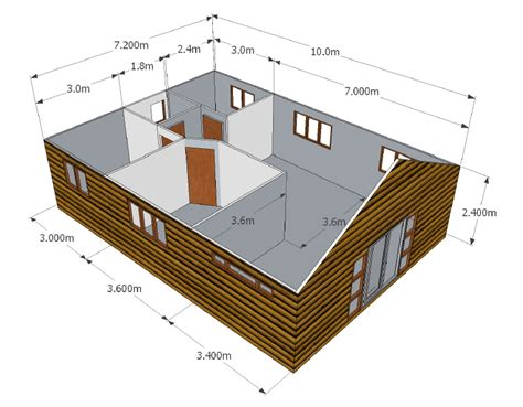 Cabin Floor Plan by 3 Bedroom Unit Wendy Houses Pretoria And Cape Town 012