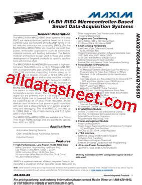maxim integrated products acquisition maxq7665datm datasheet pdf maxim integrated products