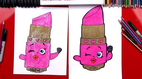 how to draw lippy lips shopkins art for kids hub