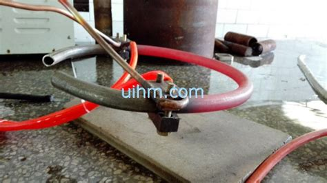 induction heating rod induction heating cambered half steel rod by um 40ab hf united induction heating