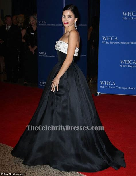 jenna dewan tatum 2015 white jenna dewan tatum strapless formal dress white house