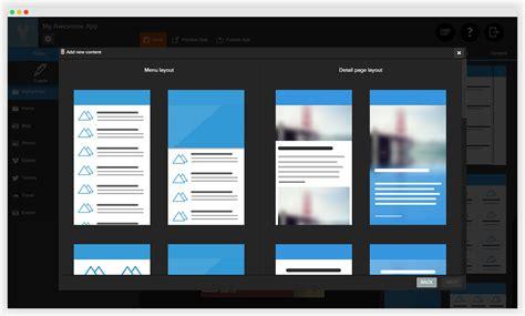 building mobile image gallery html5 app builder