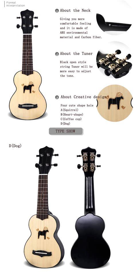 kaka   mini spruce wood ukulele  cute hole shape