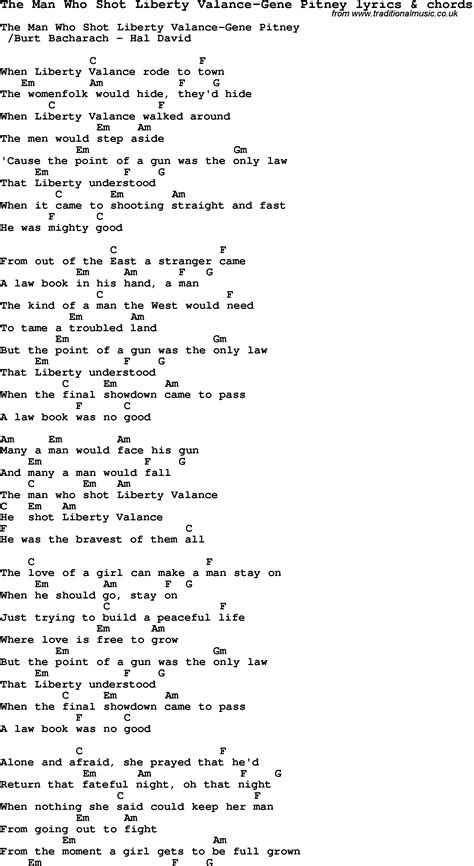 Liberty Valance Lyrics the who liberty valance lyrics chords filetoolbox