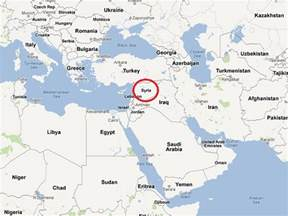 Syria Map World by Damascus On World Map Bing Images
