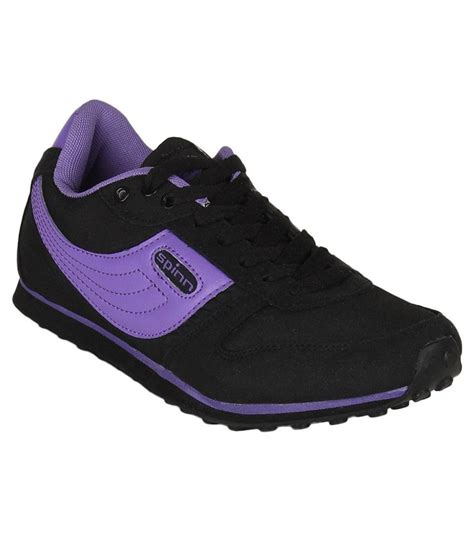 spinn sports shoes spinn black purple sport shoes price in india buy spinn