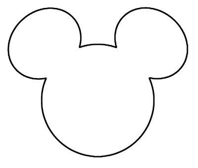 Mickey Mouse Silhouette Template by 4 C Countdown Advent Classic Mickey Template Fc