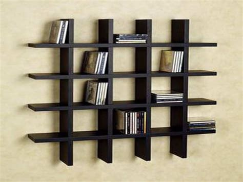 wall bookshelves modern black acrylic wall shelf with 5 racks furniture