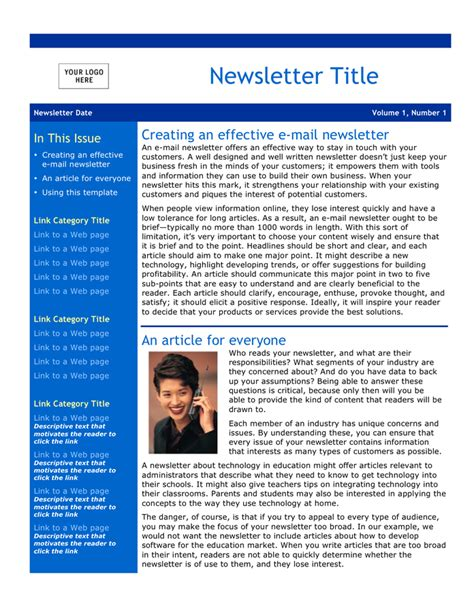 email newsletter template download free documents for