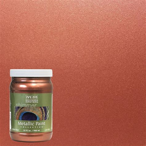 modern masters 1 gal copper metallic interior paint mm579gal the home depot