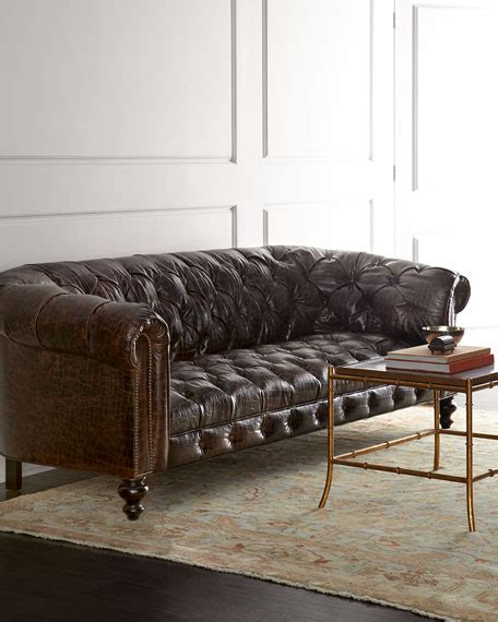 old hickory tannery leather sofa old hickory tannery winton leather sofa