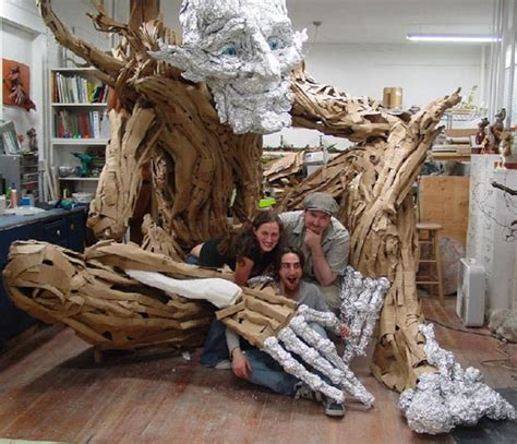 How Much Paper Does A Tree Make - beaton s paper mache tree troll bags sculpture and