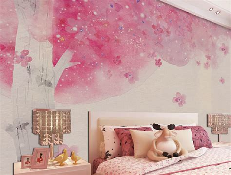 pink wallpaper for bedroom hd showing girls bedroom with light green environmental