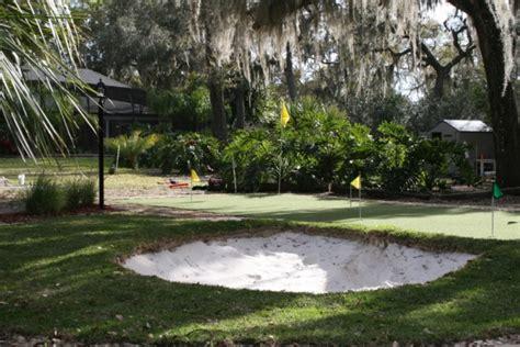 florida backyard putting green    diy project