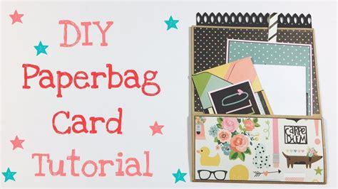 carding tutorial german diy paperbag card tutorial deutsch youtube