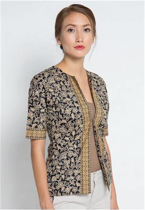 Model Atasan Online | 20 model baju batik atasan kerja wanita modern terbaru