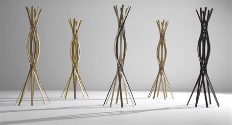 Twist Coatrack Single Material Elegance by Twist Coat Stand Clothes Stands Beech By Horm
