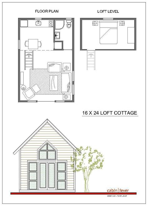 16x24 Cabin Plans With Loft 16x20 Cabin Floor Plans Small Tiny House Plans 16x20