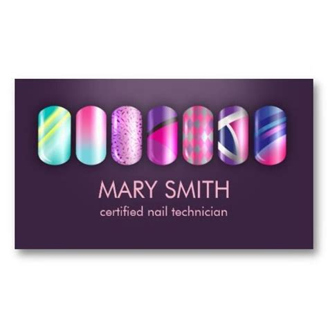 nail business cards templates cool nail tech manicurist business card template