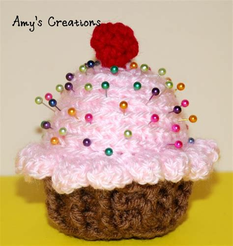 Pinchusion Cup Cake 17 best images about crochet pincushions on free pattern donuts and crochet cake