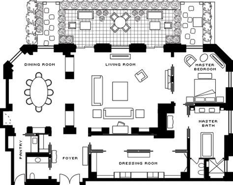 Floor Plan Layout Online royal hotel suite in paris luxury hotel four seasons