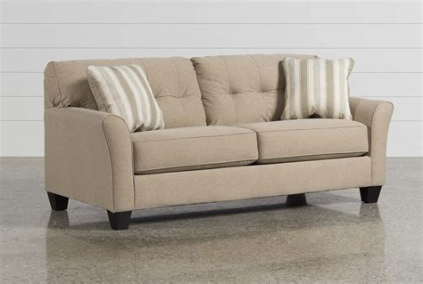 living spaces loveseat laryn khaki sofa living spaces