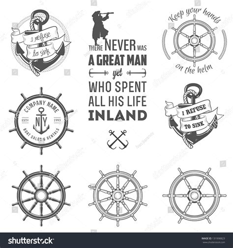shutterstock design elements and layout vector pack set vintage nautical labels icons design stock vector