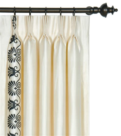 black and ivory curtains luxury bedding by eastern accents anthemion ivory black