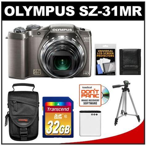 Kamera Olympus Sz 31mr olympus sz 31mr ihs 3d still digital silver with 32gb card battery tripod