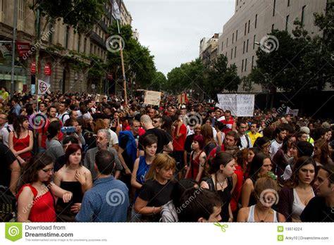 barcelona unrest barcelona protests editorial stock image image 19974224