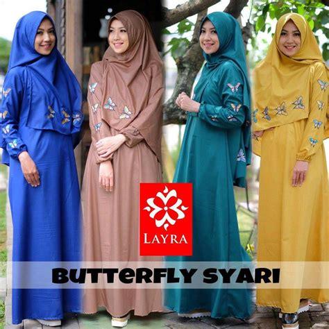 Khimar Syari Butterfly gamis muslim terbaru baju gamis terbaru butterfly syari
