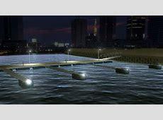Brygga med solcellsbelysning - Båtliv I 360 Form