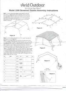 21 Grill Gazebo Shelter solved how to assemble avid outdoors model 2086 screen