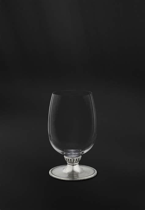 bicchieri vino bicchiere vino in cristallo e peltro la bottega peltro