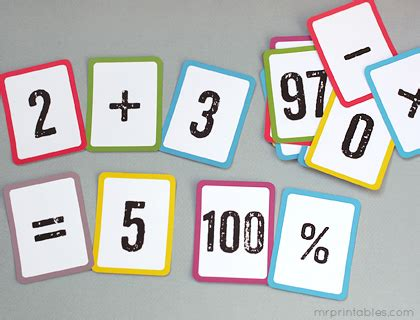 printable math number cards free printable math flash cards mr printables