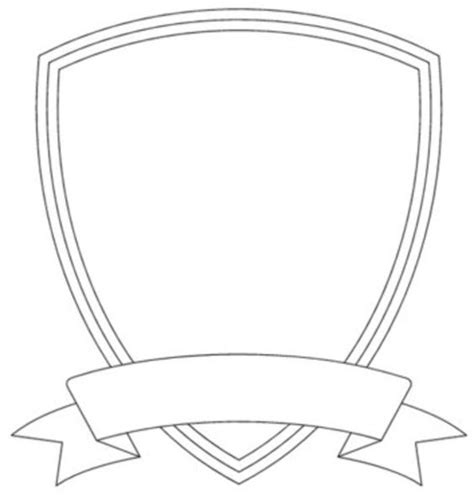 shield patch template badge outline shield template image vector clip