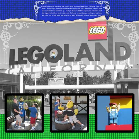 legoland layout legoland scrapbook layouts think it is about time to go