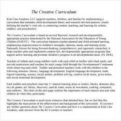 emergent curriculum planning template sle curriculum planning template 9 free documents in